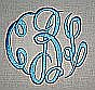 Circle Script Satin Stitch